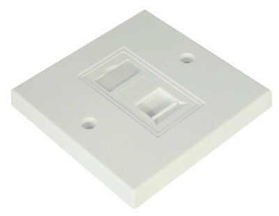 Single Gang Square Wall Plate with RJ45 Cat5e Module Ethernet Socket Outlet LAN