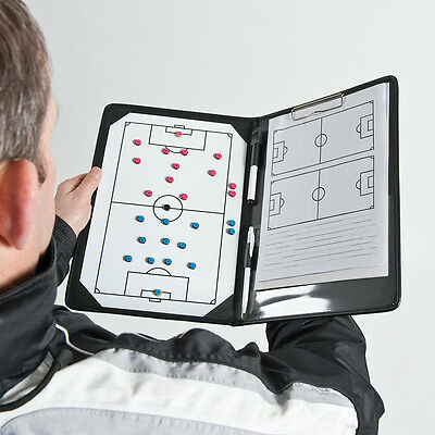 NEW Precision Football Coaches Tactic Folder - Cheap Managers a4 tactics Board