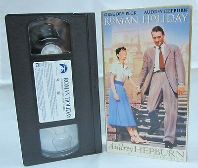 Roman Holiday (1953) (VHS, 2001) The Audrey Hepburn Collection, Gregory Peck