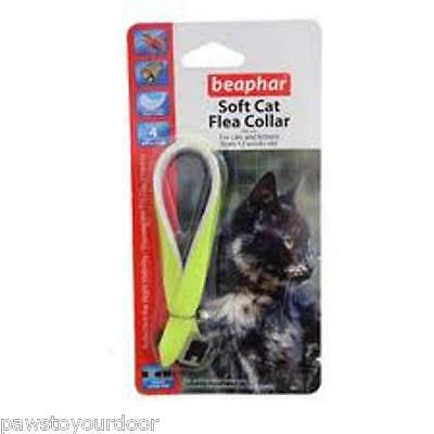 Cat kitten flea collar soft reflective flourescent velvet  Beaphar