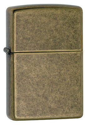 Zippo Windproof Antique Finish Brass Lighter, # 201FB, New In Box