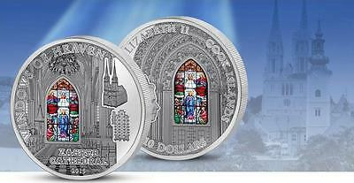 Cook Islands 2015 10$ Windows of Heaven Zagreb Cathedral Proof 50g Silver Coin