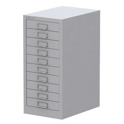 GREY 10 MULTI DRAWER 'BISLEY' FILING CABINET - BRAND NEW 590H x 279W x 380Dm