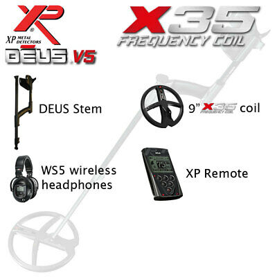 "XP Deus V4 with 9"" Coil, Remote & WS5 Headphones"