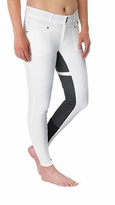 Kerrits Cross Over Full Seat Breeches - Ladies - WHITE - Different Sizes