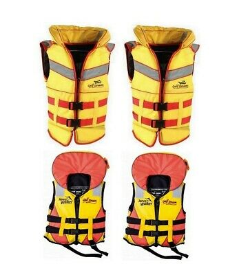 2 X Jarvis Walker Adult or Child Gulf Stream Life Jackets-Level 100/Type 1 PFD