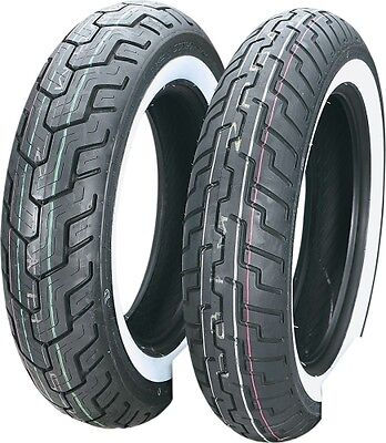 Dunlop D404 Series Rear 150/90-15 Wide While Wall Motorcycle Tire Tubeless