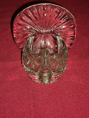 AVON SHIMMERING TURKEY PEACOCK GLASS CANDLE HOLDER  VINTAGE