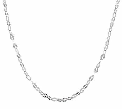 Diamond Cut Oval Link Chain Necklace Real  925 Sterling Silver ALL LENGTHS QVC