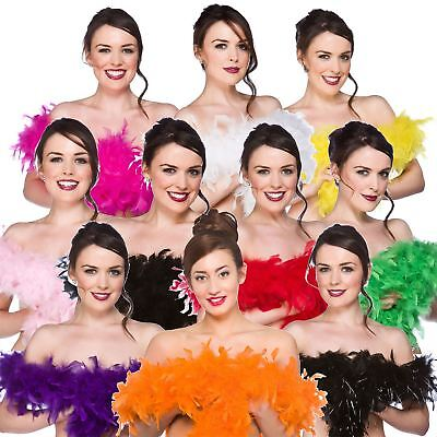 60g 1.7m QUALITY FEATHER BOA BURLESQUE 20s DANCE HEN NIGHT FANCY DRESS ACCESSORY