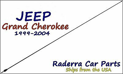 """1984-1996 Jeep Cherokee 8/"""" Black Stainless AM FM Antenna Mast FITS"""