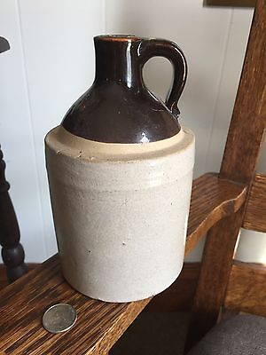 """Rare Stoneware Jug Quart Size With """"Pyle & Mcneal & Ritchey Family History"""