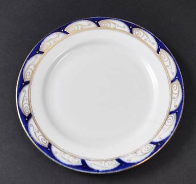 Vintage Paragon China Made England Bread Butter Plate Cobalt Blue Gold Gilt 7""