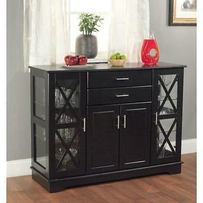 Buffet Table Cabinet Sideboard Hutch Dining Kitchen Server ...