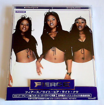 FIERCE Right Here Right Now +2 JAPAN EDITION CD w/OBI 1999 VICP-60757