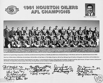1961 Houston Oilers Afl Champions 8X10 Team Photo Picture Blanda Billy Cannon