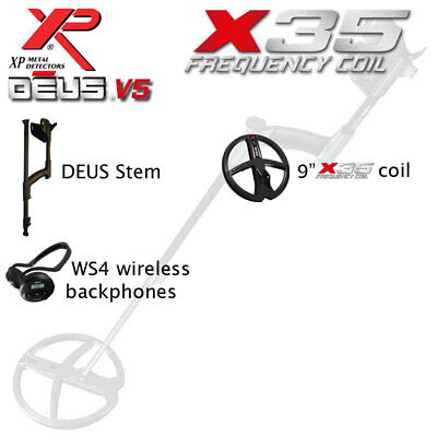 "XP Deus Lite V4 with 9"" Coil & WS4 Cordless Backphones"
