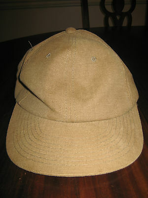 Yupoong Flat Bill Ball Cap Khaki Tan Cotton One Size Fits All New NOW ON SALE
