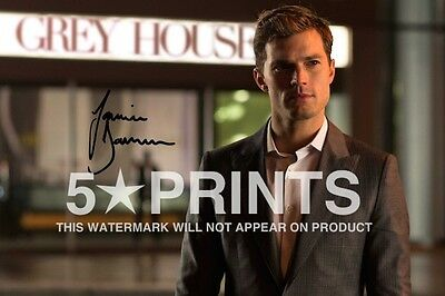 "FIFTY SHADES OF GREY JAMIE DORNAN POSTER PHOTO 12x8"" SIGNED PP AUTOGRAPH PRINT B"