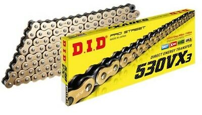 DID 530 VX2 GB X-Ring Gold Supersport / Superbike Drive Chain ( all lengths )