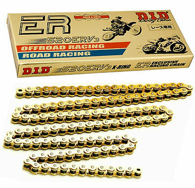 DID 520 ERV3 X-Ring Gold Moto GP Racing Drive Chain ( all lengths )