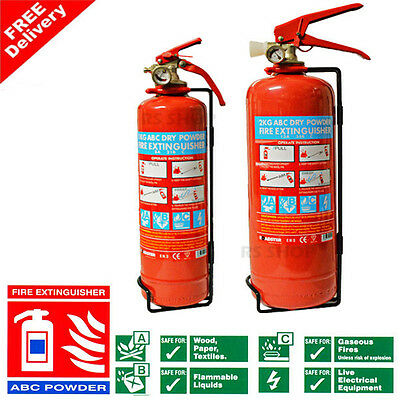 ABC Dry Powder Fire Extinguisher 1 & 2 KG with Gauge - Industrial Travel Safety