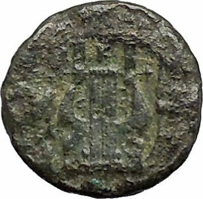 MYTILENE Lesbos Island  400BC Apollo Lyre Authentic Ancient Greek Coin  i47746