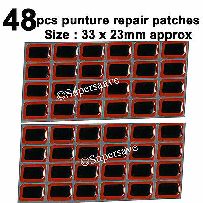 48pcs Rubber puncture patches bicycle bike tire tyre tube repair cycle patch kit