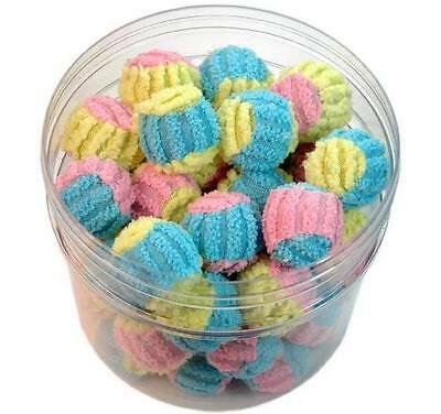CHENILLE TWO-TONE CAT BALLS - Bulk Lots 24/48 Soft Lightweight Rattles Cat Toy