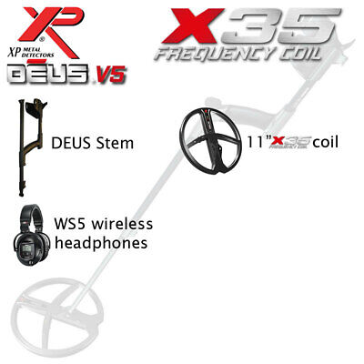 "XP Deus Lite V4 with 11"" Coil & WS5 Cordless Headphones"