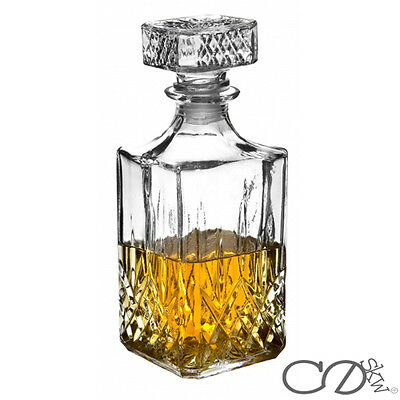 Glass Decanter Whiskey Sherry Brandy Liqueur Decanter 900ml High Quality Glass