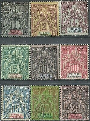 Lot of Very Old Stamps from St.Pierre & Miquelon - French Colonies.