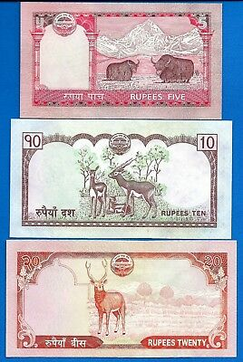 Nepal P-60,P-61,P-62 Mount Everest Uncirculated Banknotes Set # 8 FREE SHIPPING