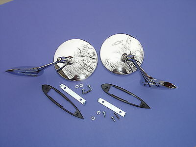 1963-63-1964-64-1965-65 CORVAIR OUTSIDE REAR VIEW MIRRORS-PAIR-NEW