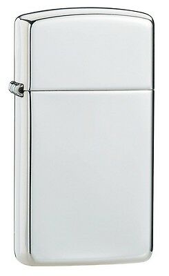 Zippo Windproof Slim High Polished Sterling Silver Lighter, # 1500, New In Box