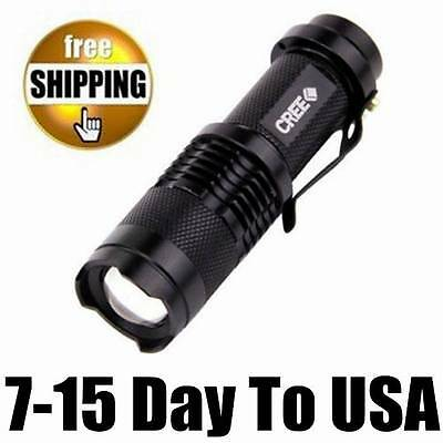 Mini UltraFire CREE Q5 600 LUMEN 14500&AA ZOOMABLE LED TACTICAL FLASHLIGHT TORCH