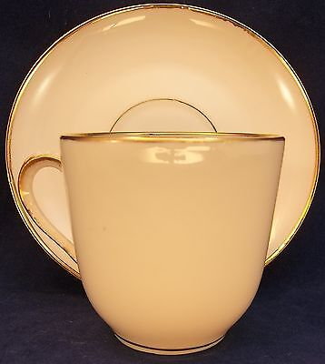 M Redon PL Limoges France Demitasse Tea Cup Saucer Set China Gold