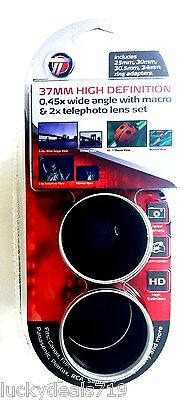 Targus 37MM High Definition 0.45 Wide Angle with Macro & 2x Telephoto Lens Set