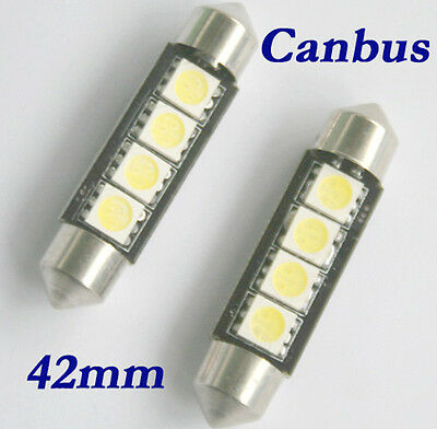 6x SMD LED Soffitte Lampe C10W 42mm 12V 4 5050 Xenon weiss Innenraum Beleuchtung