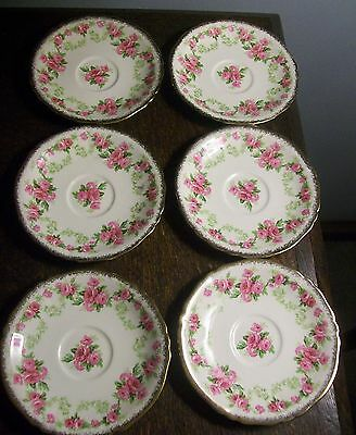 Vintage Alfred Meakin Rose Bower Small Saucers