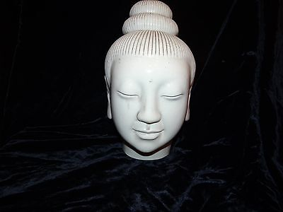 "antique Chinese blanc de chine porcelain bust Kwan Yin 9.5"" 19thC Qing SUPERB"