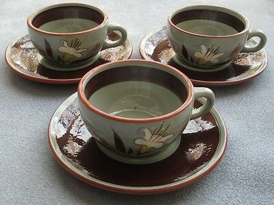 THREE Stangl Golden Harvest Cup and Saucer Sets