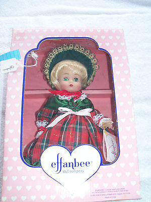 effanbee Christmas dolls,1995 ANNUAL CHRISTMAS DOLL MV247