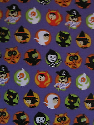 Riley The Costume Collection Halloween Fabric purple 1 yard skeleton pirate
