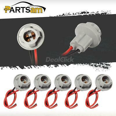 a set of 5pc t10 socket wire harness for cab marker clearance top light lamp  hot