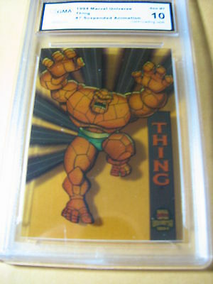 THING 1994 MARVEL UNIVERSE SUSPENDED ANIMATION # 7/10  GRADED 10