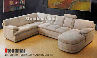 3-PIECE MODERN MICROFIBER Sectional Sofa Set S937