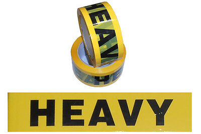 2 Rolls HEAVY Printed Sticky Packing Tape 75 Meter x48mm Warning Label