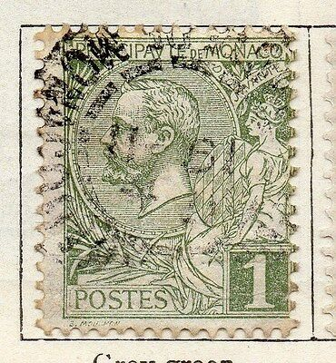 Monaco 1891 Early Issue Fine Used 1c. 122834