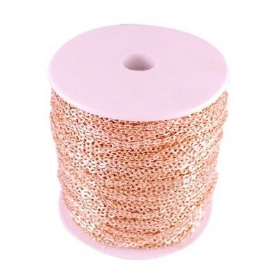 Wholesale 10m/100m Rose Gold Plated Chain Jewellery Making Findings - lady-muck1